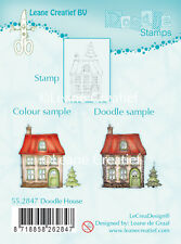 Leane Creatief - Clear Cling Rubber DOODLE HOUSE Stamp 55.2847