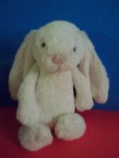 """Jellycat Bashful Bunny Rabbit  Plush Stuffed Animal Pink Nose Soft 10"""" GUC"""