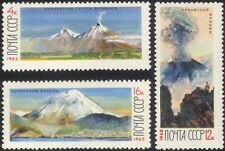 Russia 1965 Russian Volcanoes/Mountains/Volcano/Nature/Animation 3v set (n29248)