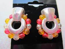 80's Beaded Pierced Earrings