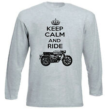 AERMACCHI ALA VERDE 250 KEEP CALM P - GREY SLEEVED TSHIRT- ALL SIZES IN STOCK