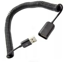 2M Spiral Coiled USB 2.0 Male A to Female A Extension Cable Adapter