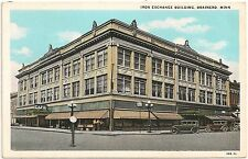 Iron Exchange Building in Brainerd MN Postcard
