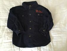Timberland corduroy boy button down long sleeve shirt 24 months old