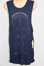 NWT Roxy Swimsuit Bikini Cover Up Dress Size S BTN Navy Love & Hapiness