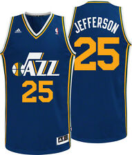 NEW ADIDAS UTAH JAZZ BIG AL JEFFERSON JERSEY XXL 2X SWINGMAN REV 30 BOBCATS BLUE