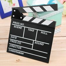 Director Video Scene Clapperboard TV Movie Clapper Board Film Slate Cut Prop L5