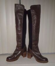 Free People MTNG by Sixtyseven Landry Tall Boot Brown Leather Size EU38 8 NWOB