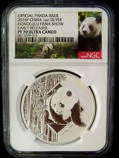 2016 CHINA PANDA HONOLULU HAWAII HSNA SHOW NGC PF70 ER 1 OZ SILVER 50% OFF SALE