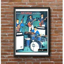 Sears Instruments Poster - Drums Electric Guitar Bass Guitar Amps Silvertone