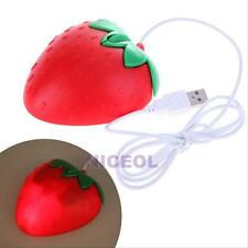 Sweet Computer PC Desktop Notebook Strawberry Fruit Gift USB Optical Mouse Mice