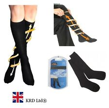 FLIGHT TRAVEL SOCKS Unisex Mens Womens Anti Swelling DVT Support Compression NEW