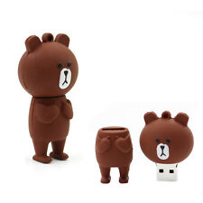 8GB Brown Bear Novelty USB Flash Drive Memory Pen Stick Mass Storage Gift Kid