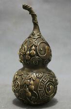 antique excellent Bronze FengShui Exorcise 8 Diagrams Gourd Cucurbit Statue