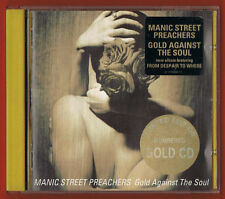 MANIC STREET PREACHERS 'Gold Against' UK CD Gold Disc Numbered + Promo stickers.