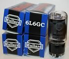 Matched Quad (4 tubes) Mullard 6L6GC Reissue tubes, NEW, Free Shipping