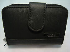 Ladies Leather Purse/Wallet/Credit Card Holder all in One Black