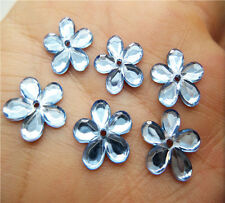 NEW 50pcs 12MM Resin Flower Perforate flatback Appliques For phone/wedding/ PICK