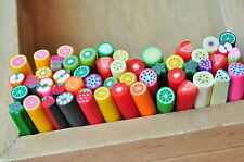 25X 3D Nail Art Stickers Tips Fimo Canes Stick Rods Polymer Clay Decoration