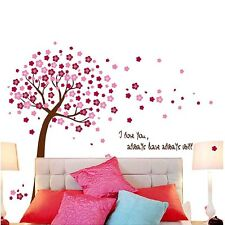 Pink Sakura Flower Cherry Blossom Tree Removable Wall Sticker Room Decals    F
