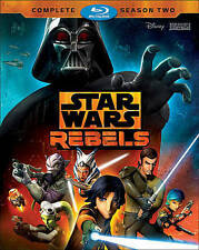 STAR WARS REBELS COMPLETE SECOND SEASON 2 BLU RAY - 3 DISC SET