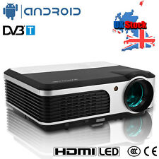 LED Projector Android WiFi DVB-T Home Theater Movie Game Digital TV 3800LM HDMI