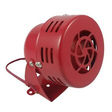 12V Electric Car Truck Motorcycle Driven Air Raid Siren Horn Alarm Loud 50s Red