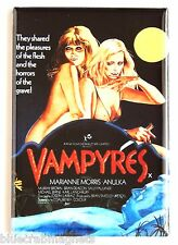 Vampyres FRIDGE MAGNET (2.5 x 3.5 inches) movie poster lesbian vampires nude