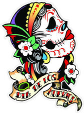 #4 Sugar Skull Sticker Day of the Dead Decal Rockabilly Rock Vintage