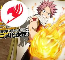 1PC Fairy Tail Natsu Dragnee Logo Temporary Waterproof Tattoo Sticker Cosplay