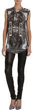 BALMAIN ORNATE MARBLE PRINT TEE T-SHIRT FR 38 UK 10