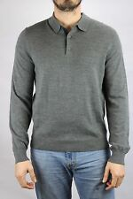 Toscano Men's Gray Quarter Button Up Sweater Size M