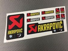 Kit 10 Adesivi Stickers AKRAPOVIC BMW resistente al calore