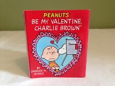 "Peanuts Be My Valentine Charlie Brown 3"" Mini Hardcover Book Schulz Dust Jacket"