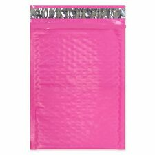 25 4x8 Vibrant Pink Poly Bubble Mailer Envelope Shipping Wrap Air Mailing Bags