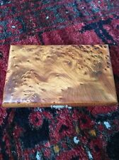 Hand Made Thuya Wood Dominos In A Matching Burr Wood Case