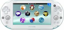 USED PS Playstation vita Wi-Fi model LIGHT BLUE WHITE PCH-2000 ZA14 only console