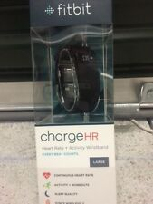 FITBIT Charge HR™ LARGE - BLACK Wireless Heart Rate + Activity Wristband NEW!