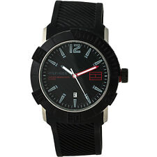 Tommy Hilfiger Sport Black-Tone Dial SS Silicone Quartz Men's Watch 1790735