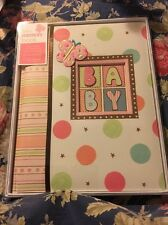 CR Gibson Baby's First Memory Record Book Boy Girl Butterfly NIB