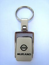 New Nissan Murano Sq. Metal Logo Key Chain Ring Fob. Handsome, Quality Keychain.