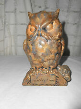 "Vintage ceramic owl "" Little One"" bank"