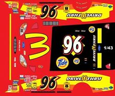 #96 Andy Houston Mcdonalds Drive Thru 2001 1/43rd Scale Slot Car Decals