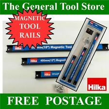 "HILKA 3 PIECE MAGNETIC TOOL HOLDER RAIL SET 8"" 12"" 18"" FOR SCREWDRIVERS PLIERS"