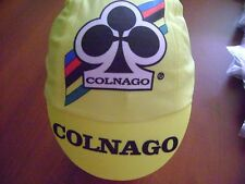 COLNAGO CYCLING CAP ITALIA HAT CAP POLYESTER SUBLIMATED UV RAY PISTA FIXED YELLO