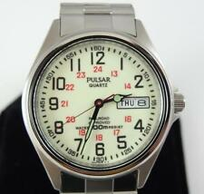 Very Nice Working Pulsar VX43-0AJ4 Lumibrite Railroad Approved Wristwatch * E095