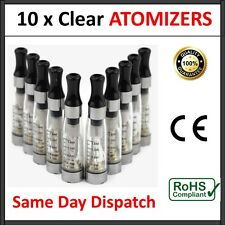 10 x CLEAR ATOMISER CLEAROMISER E CIG SHISHA TANK VAPOUR ATOMIZER CLEAROMIZER HQ