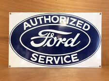 Ford Porcelain Service Sign Oversized Official - Rare - NEW O.S. - Ande Rooney