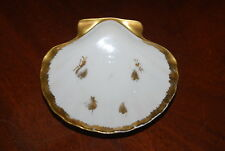 LIMOGES IMPERIAL NAPOLEON GOLD BEE DECORATED SHELL CLAM CABINET TABLE WALL PLATE