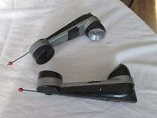 Remco Walkie Talkie 2 Way Electronic Telephone Set Vintage Black Silver 1950's